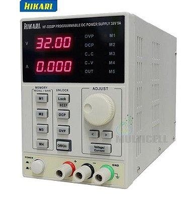 FONTE DE ALIMENTAÇÃO PROGRAMAVEL DIGITAL HIKARI HF-3205P DC 32V-5A 4 DIGITOS