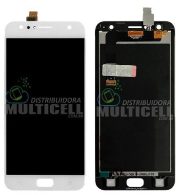 GABINETE FRONTAL DISPLAY LCD TOUCH SCREEN ASUS ZD553KL ZENFONE 4 SELFIE BRANCO 1ª LINHA QUALIDADE AAA