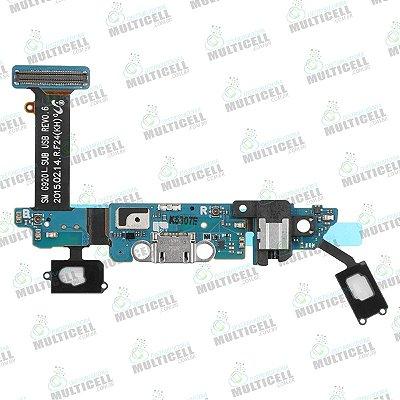 FLEX CONECTOR DE CARGA MICROFONE SENSOR TEC SAMSUNG G920L S6 EDGE ORIGINAL
