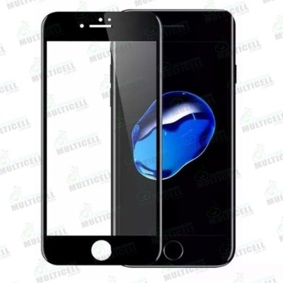 PELÍCULA DE VIDRO 3D 5D APPLE IPHONE 6 PRETA (COBRE TODA A TELA)