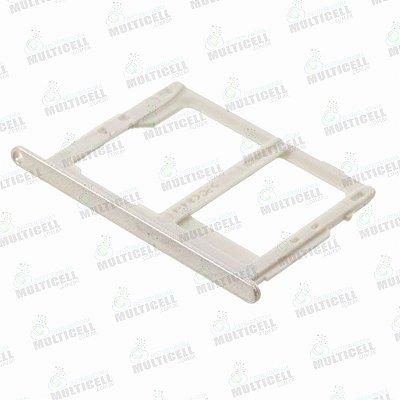 GAVETA DE CHIP SAMSUNG G610 G611 J7 PRIME G570 J5 PRIME  DOURADA (CHIP 2 + SIM CARD)
