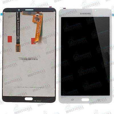 GABINETE FRONTAL DISPLAY LCD TOUCH SCREEN MODULO COMPLETO SAMSUNG T280 GALAXY TAB A BRANCO 1ªLINHA QUALIDADE AAA