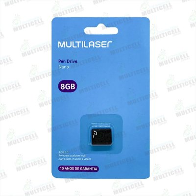 PEN DRIVE MULTILASER NANO 8GB ORIGINAL