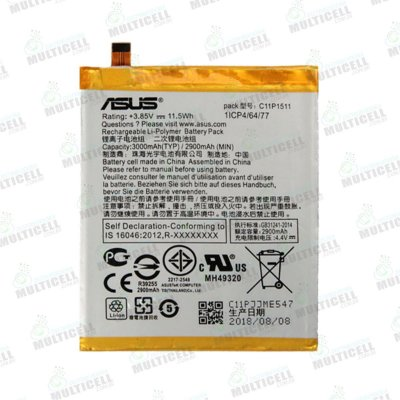 BATERIA ASUS C11P1511 ZE552KL Z012DE ZENFONE 3 ORIGINAL