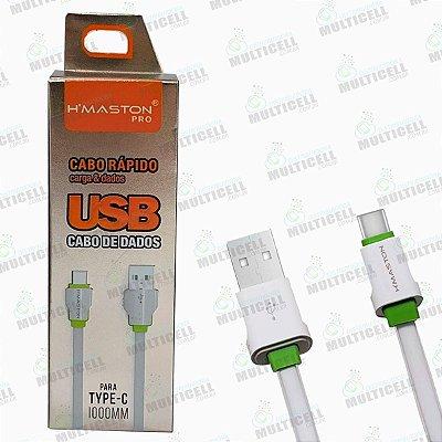 CABO USB H'MASTON 4.8A MODELO TIPO-C HM-04T ORIGINAL