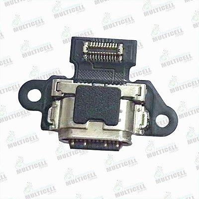FLEX CONECTOR USB DOCK DE CARGA MOTOROLA XT1900 MOTO X4 TIPO C 1ªLINHA QUALIDADE AAA