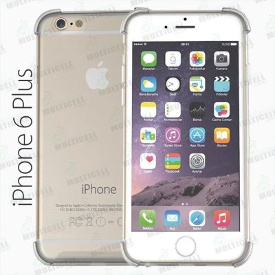 CAPA CASE SILICONE TPU TRANSPARENTE ANTI-SHOCK ANTI-IMPACTO APLLE IPHONE 6 PLUS