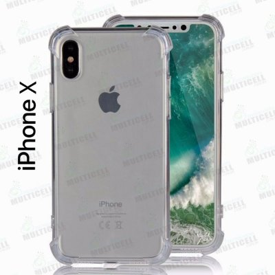 CAPA CASE SILICONE TPU TRANSPARENTE ANTI-SHOCK ANTI-IMPACTO APLLE IPHONE X