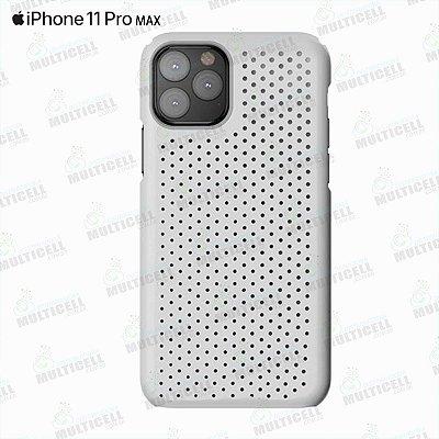 CAPA CASE SILICONE SLIM APLLE IPHONE 11 PRO MAX BRANCA TRANSPARENTE