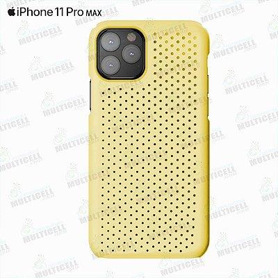 CAPA CASE SILICONE SLIM APLLE IPHONE 11 PRO MAX AMARELA TRANSPARENTE
