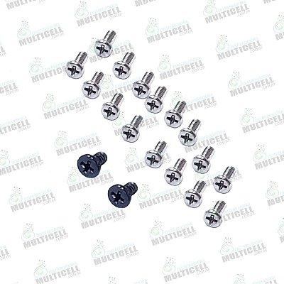 KIT JOGO DE PARAFUSOS SAMSUNG G610 GALAXY J7 PRIME G570 J5 PRIME ORIGINAL
