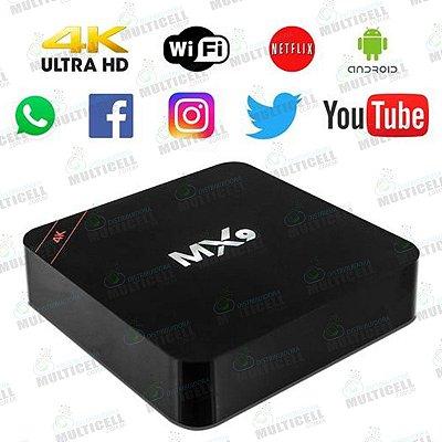 CONVERSOR SMART TV BOX MX9 4K ULTRA HD Wi-Fi ANDROID HDMI USB DDR 3G FLASH 16G MALLAT