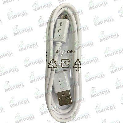 CABO MICRO USB V8 MALLAT REFORÇADO COM METAL