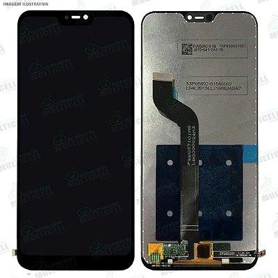 GABINETE FRONTAL DISPLAY LCD MODULO COMPLETO XIAOMI REDMI 6 PRO PRETO 1ªLINHA QUALIDADE AAA