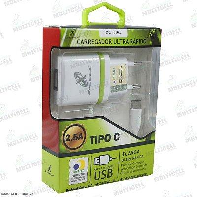 CARREGADOR ULTRA RAPIDO XC-TPC 2.8A X-CELL TIPO C