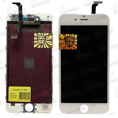 GABINETE FRONTAL DISPLAY LCD MODULO COMPLETO APPLE IPHONE 6 GE-804 BRANCA GOLD EDITION
