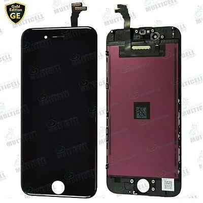 GABINETE FRONTAL DISPLAY LCD MODULO COMPLETO APPLE IPHONE 6 GE-804 PRETO GOLD EDITION