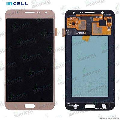 GABINETE FRONTAL DISPLAY LCD MODULO COMPLETO SAMSUNG J700 GALAXY J7 DOURADO (1ªLINHA QUALIDADE INCELL)