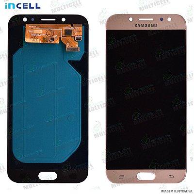 GABINETE FRONTAL DISPLAY LCD MODULO COMPLETO SAMSUNG J530 GALAXY J5 PRO DOURADO (1ªLINHA QUALIDADE INCELL)