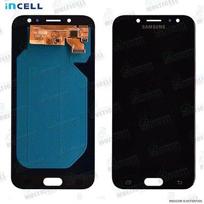 GABINETE FRONTAL DISPLAY LCD MODULO COMPLETO SAMSUNG J530 GALAXY J5 PRO PRETO (1ªLINHA QUALIDADE INCELL)