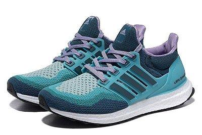 Tênis Adidas Ultra Boost - Feminino - Azul/Lilás