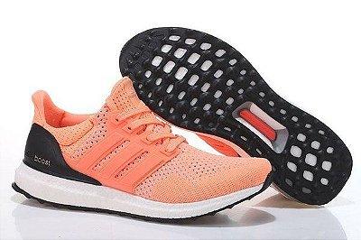 Tênis Adidas Ultra Boost - Feminino - Laranja/Preto