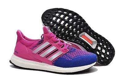 Tênis Adidas Ultra Boost - Feminino - Rosa/Azul