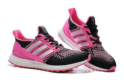 Tênis Adidas Ultra Boost - Feminino - Rosa/Preto