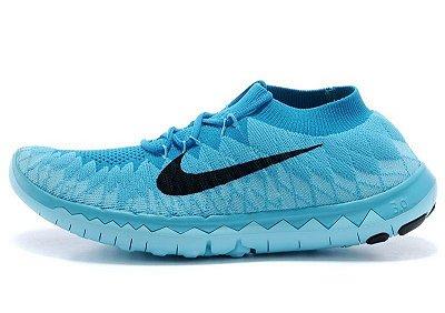 Tênis Nike FREE 3.0 Flyknit - Feminino - Azul
