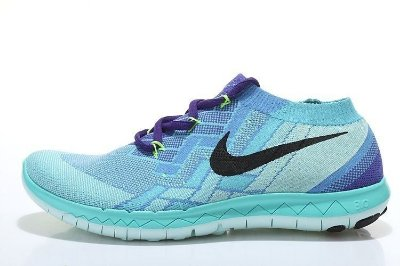 Tênis Nike FREE 3.0 Flyknit - Feminino - Azul Claro