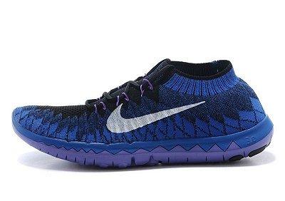 Tênis Nike FREE 3.0 Flyknit - Feminino - Azul Escuro