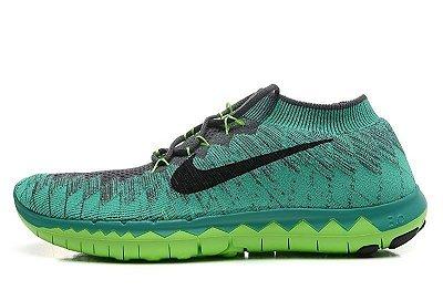 Tênis Nike FREE 3.0. Flyknit - Masculino - Verde Escuro