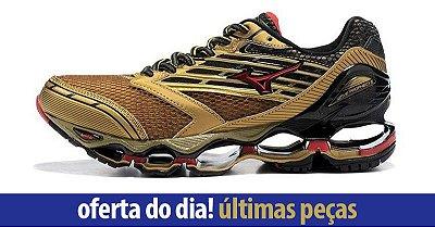 SÓ HOJE! Tênis Mizuno Wave Prophecy 5 Golden Runners - Masculino - Dourado