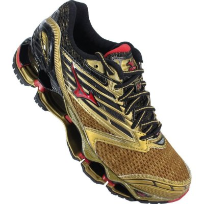 Tênis Mizuno Wave Prophecy 5 Golden Runners - Masculino - Dourado