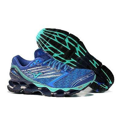 Tênis Mizuno Wave Prophecy 5 Azul e Verde