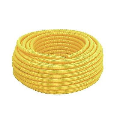 """Conduite Corrugado 1/2"""" - 50m - Amarelo - Metasul"""