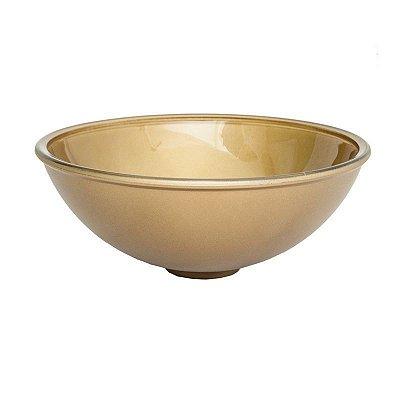 Cuba Plástica Dourada Redonda de Sobrepor (Apoio) Para Banheiro