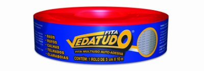 Manta asfáltica adesiva Aluminizada - 05cm x 10m - VEDATUDO