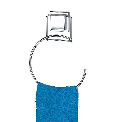 Porta Toalha Redondo Com Fixação Por Sucção - Arthi