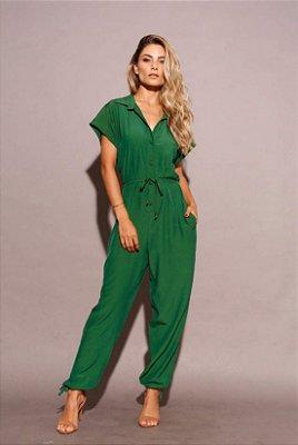 Macacão longo verde oliva