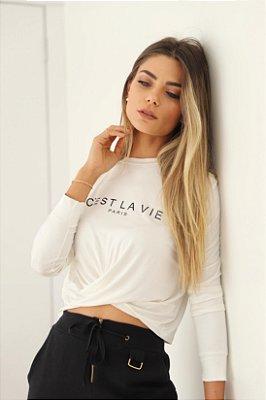 Blusa cropped branco