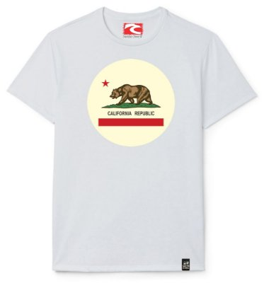 Camiseta Santo Swell California Republic Ball Estampada Manga Curta 1 Cor