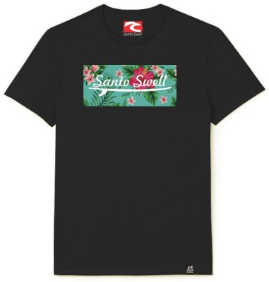 Camiseta Santo Swell flowers and branches Estampada Manga Curta 4 Cores