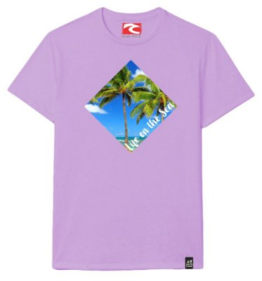 Camiseta Santo Swell Life on the Sea Estampada Manga Curta 3 Cores