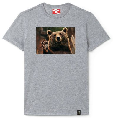 Camiseta Santo Swell Bear Waving At You Estampada Manga Curta 4 Cores