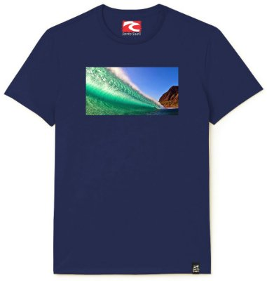 Camiseta Santo Swell Greatest Wave View Estampada Manga Curta 3 Cores