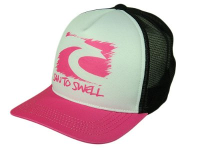 Boné Feminino Santo Swell Hawaii Beach Aba Curva SnapBack Cor Pink/Preto/Branco