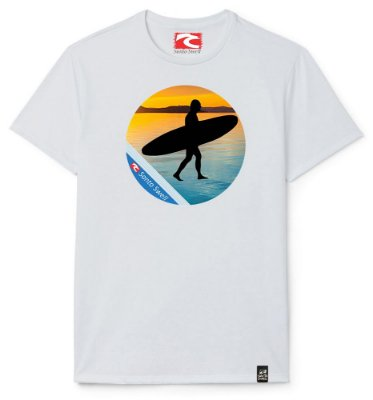 Camiseta Santo Swell Surfer Sunset Estampada Manga Curta 5 Cores