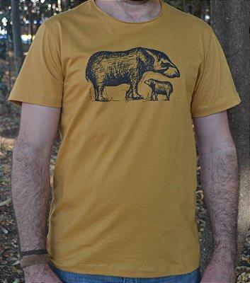 Camiseta Masculina de Algodão Orgânico - Estampa Anta - Artista Felipe Ferreira
