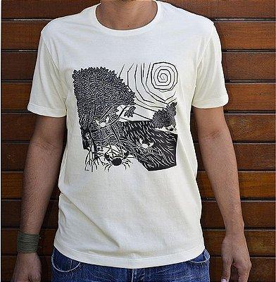 Camiseta em Algodão Orgânico - Estampa Mangue - Artista Perron Ramos